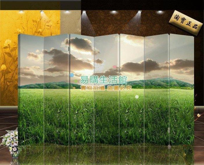 中式布藝屏風隔斷玄關家居時尚折屏酒店現代風格37【單扇防水】
