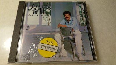 LIONEL RICHIE CAN'T SLOW DOWN 1983年日本罕見盤收錄HELLO PENNY LOVER STUCK ON YOU金曲無ifpi