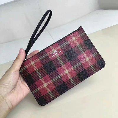 (Outlet特惠)COACH 54461 新款蘇格蘭風格手拿包 可放iPhone Plus 附購買憑證