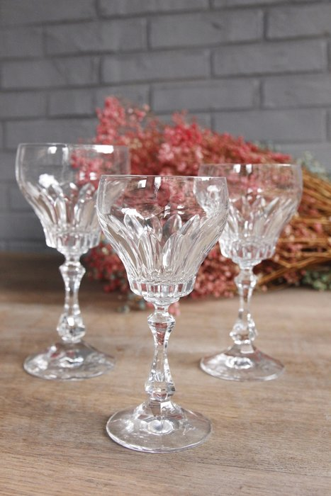 法國老水晶杯 聲音清脆非玻璃 歐洲古董老件(04_N-44)【小學樘_歐洲老家具】