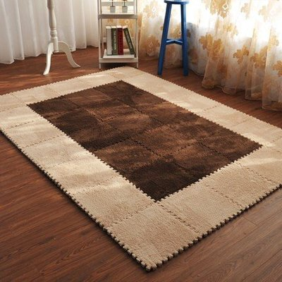 滿鋪臥室榻榻米拼塊絨面拼接地墊加密加厚拼圖泡沫地墊定制