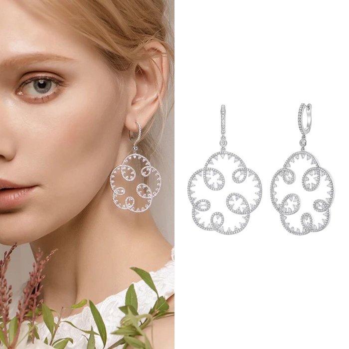 💎1088、哥德蕾絲系列 輕奢溫柔鑽鑲雲朵設計淑女耳環💎正韓 飾品 空運 珠寶 耳環