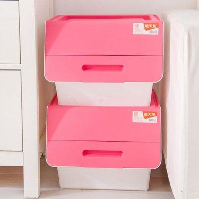 前開翻蓋零食收納盒創意側開斜口收納箱玩具儲物箱70Lyi   全館免運