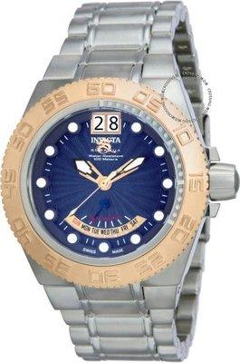 展示品 Invicta 10869 Subaqua Sport Swiss Made Day Retrograde Date Blue Dial Me