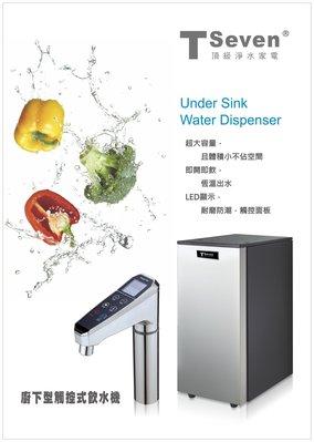 安心淨水 廚下型HS-58 櫥下型 冷熱雙溫 智能型 飲水機  含 RO或搭配愛惠浦 科技 DCP3000  HT-69