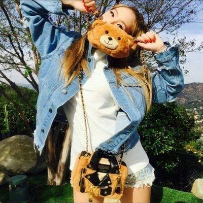 2NE1 CL 李彩琳 同款韓風破洞字母印花牛仔外套