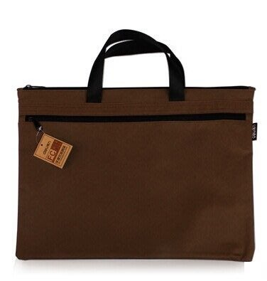 咖啡色 堅固耐用 帆布公事包 手提包 補習袋 上班上學上課的好搭檔!