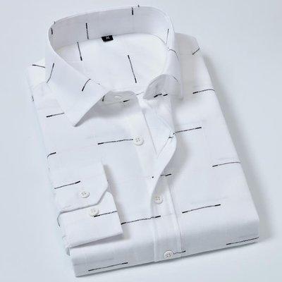 日和生活館 襯衫男士長袖修身正韓潮流襯衣帥氣格子衫百搭白帥氣秋冬衫衣寸衫S686