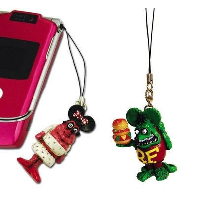(I LOVE樂多)RAT FINK RF老鼠芬克 立體漢堡鼠手機吊飾/包包吊飾 另有MOONEYES