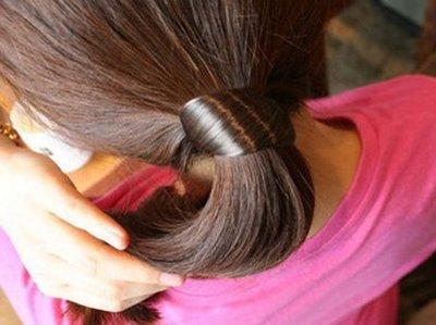 【櫻桃飾品】韓版假髮造型髮束 髮圈  超商取貨 貨到付款【20287】