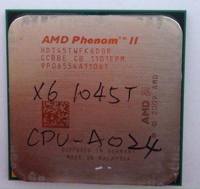 AMD AM3 Phenom II X6 1045T 95W 2.7G 六核心 CPUcpu-A024