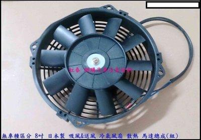 """特價900元 通用型 日本製 補助風扇 強力冷氣風扇 12V 8 吋 另售 9"""" 10'' 12"""" 冷扇 可面交"""