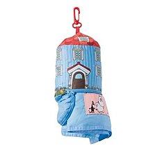 【簡單旅行屋 JP】現貨 日本 Moomin 嚕嚕米 兒童 攜帶式 羽絨被 附 房屋 造型 收納袋 羽絨棉被 羽絨毯