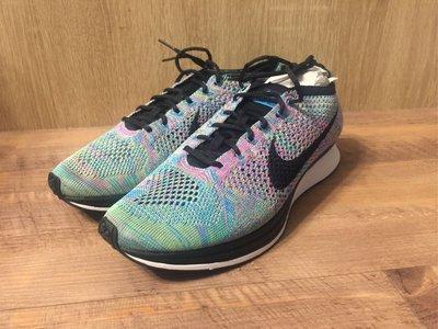 Nike flyknit racer 彩虹 編織 慢跑鞋 racing