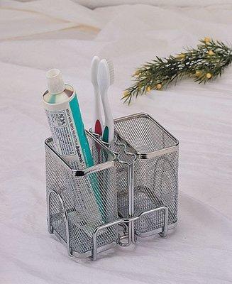 ☆成志金屬廠 ☆ SA-2A 不銹鋼拉網--雙籃--牙刷架