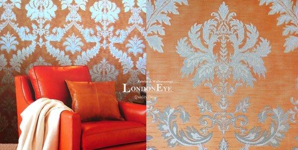 【LondonEYE】奢華璀璨COLOR系列 • 施華洛世奇水鑽 • 巴洛克大馬士革壁紙 • 粉橘/草綠