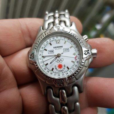 38mm <大四針>力抗錶 LICORNE 奧運錶 清晰耐用 優質好錶 另有 OMEGA ROLEX LM GS KS RADO ETA