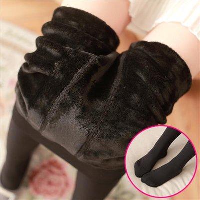 秋冬季加厚加絨絲襪連褲襪連腳塑形瘦腿襪女中厚黑色膚色打底襪子