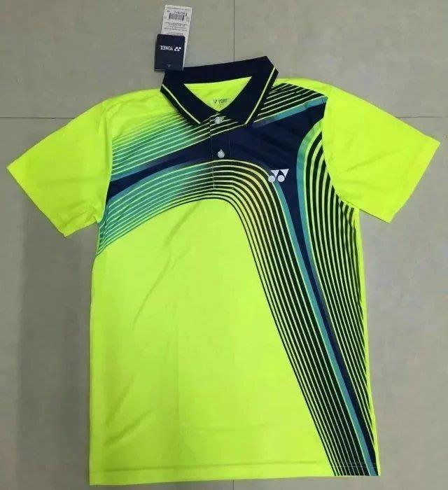 Yonex羽球衣勝利羽球衣YY羽球衣 新款YY尤尼克斯羽毛球服男女短袖翻領速幹運動訓練球衣比賽服