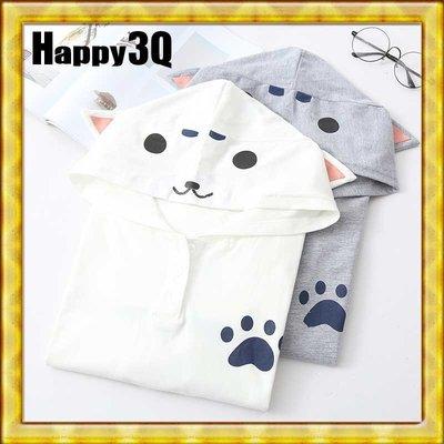 森林系可愛柴犬秋田貓咪寵物任你定義耳朵連帽T-ShirtT恤-均碼【AAA0654】預購