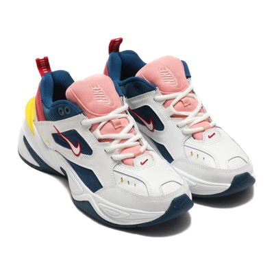 =CodE= NIKE W M2K TEKNO 復古皮革慢跑鞋(白藍粉紅黃) AO3108-402 老爹鞋 水藍 女