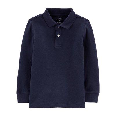 【Carter's】CS男童長POLO衫 深藍 F03191003-29