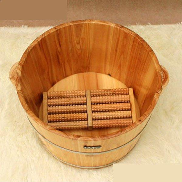 5Cgo 【批發】含稅會員有優惠 39418241900 香杉木足浴木桶泡腳木桶洗腳盆洗腳桶泡腳盆木桶 SPA足浴桶