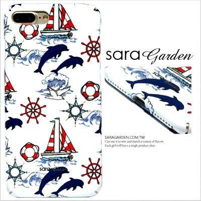 客製化全包覆手機殼iPhone X 8 7 6 6S Plus 三星 S8 S8+硬殼 海豚海浪水手風 K1015019