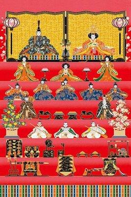(藝)日本原裝進口1000片拼圖 女兒節人偶 1000-664