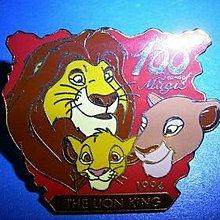 Japan Disney LION KING 100 Years Of Magic Pin LE 日本 迪士尼 獅子王 100週年 限量版 徽章 襟章