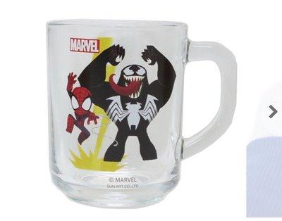 (現貨)玻璃 直徑約7x9cm 有耳 透明身 水杯 Marvel 超級英雄 Spiderman 蜘蛛俠 獨魔 日本直送 全新品