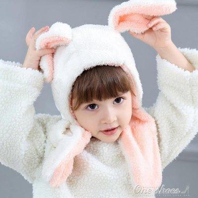 兒童帽子女寶寶護耳帽男童女童帽秋冬季嬰幼兒圍巾圍脖一體嬰兒帽