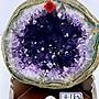 H1726 頂級烏拉圭ESP紫水晶洞  4.1kg(玄武岩原皮)高21cm,寬16cm,厚度20cm,洞深6cm(紫晶洞