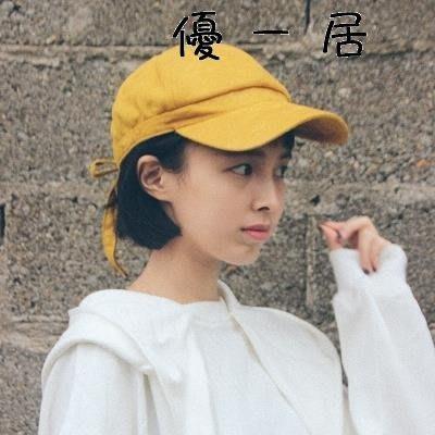 溫瀾麂皮絨棒球帽女夏街頭休閒百搭帽子學生軟妹蝴蝶結鴨舌帽Y-優思思