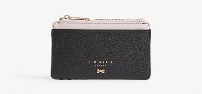 (預購)英國TED BAKER Lori textured leather card holder拉鍊式卡夾