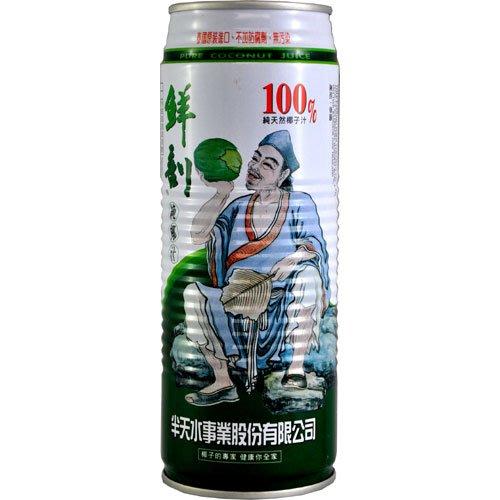 半天水 鮮剖純椰汁 100%純天然椰子汁 1箱520mlX24罐 特價760元 每罐平均單價31.66元