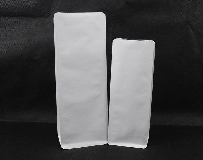 PHB102 – 純白 白牛皮紙 1/2 半磅 227g 平底袋 平底夾邊袋 加裝單向排氣閥 100入