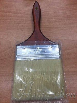 ~  ~^_^~   新盛油漆行~塗刷工具~金好刷 特制化纖絲 無刷痕 刷毛柔軟 含漆量大 水泥漆 乳膠漆 4.5吋刷
