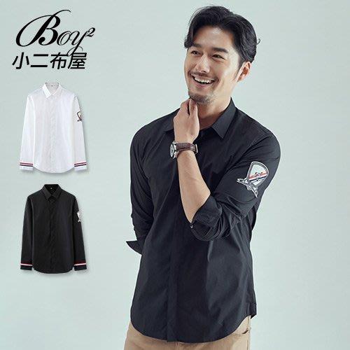 BOY2小二布屋-休閒襯衫 英倫風質感型男長袖襯衫【NZ77901】