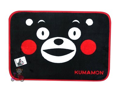 {阿猴達可達美妝館} KUMAMON 熊本熊大餅臉地墊/腳踏墊/防滑墊 現貨特價150元