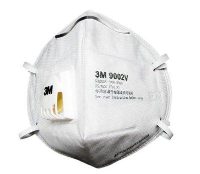 3M 9002V P1 頭戴式帶閥 拋棄式防塵口罩 騎機車 工業用 PM2.5 粉塵 吐氣順眼鏡不起霧
