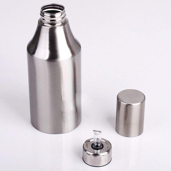 全新 不銹鋼油壺 防漏設計 日本廚房用品 油瓶 餐廳 酒店 創意家居K25