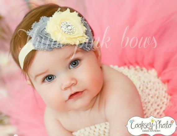 HM嬰幼館【Q185】 2015新款歐美兒童髮帶新生兒嬰兒寶寶髮帶女童女寶公主滿月百日週歲拍照攝影/蝴蝶結水鑽