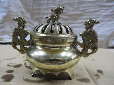 二手舖 NO.769 銅雕 銅香爐 盤香爐 雕工細膩