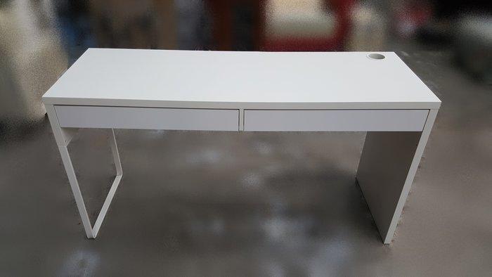 二手家具賣場 宏品便宜傢俱出清 B61303*白色雙抽電腦桌 書桌* 寫字桌 2手桌椅拍賣 會議桌 餐桌 課桌椅