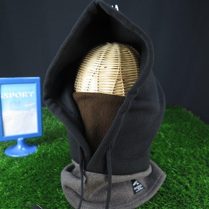 【iSport代購】日本代購  多用途BELLWOOD MADE 脖圍連帽 抗寒 內刷毛 4175131500黑棕灰