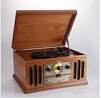 【優上精品】仿古電唱機 多用黑膠唱片機 老式留聲機 黑膠唱盤機 收音機老式唱(Z-P3187)