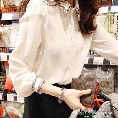 ZIHOPE 2019春裝新款韓版雪紡白色襯衫女設計感小眾洋氣上衣寬鬆襯衣很仙ZI812