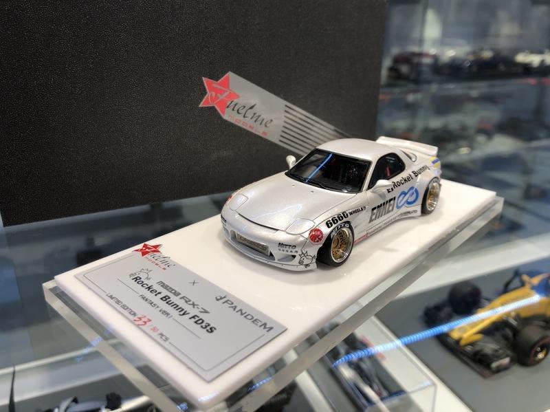 吉華科技@FuelMe Pandem RocketBunny RX7 Sierra White 珍珠白 1/43