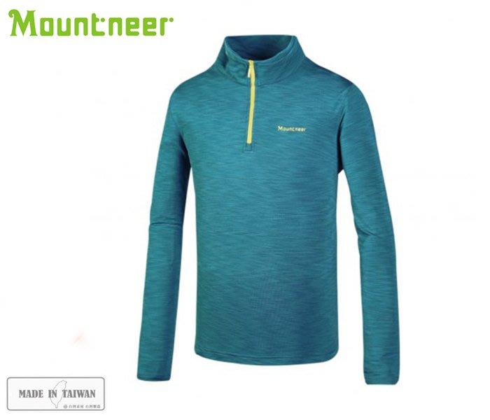 丹大戶外用品【Mountneer】山林休閒 男遠紅雲彩保暖上衣 32P11-79 水藍